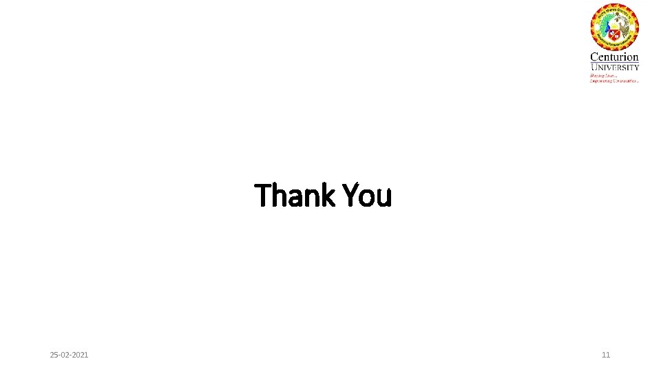 Thank You 25 -02 -2021 11