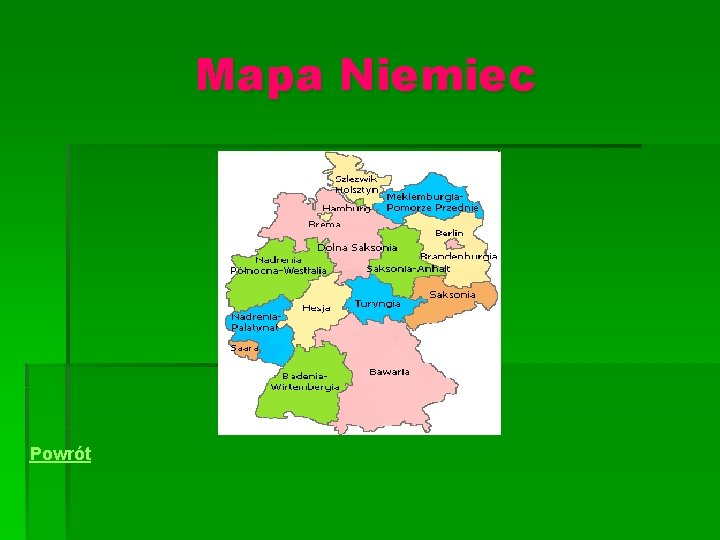 Europy niemcy bawaria mapa Mapa