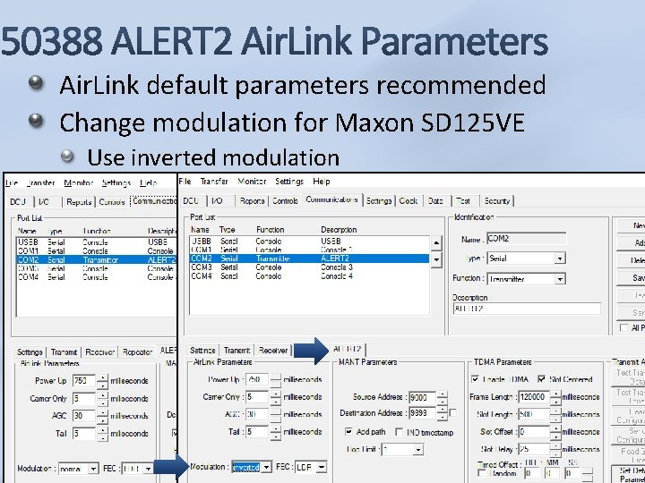 Air. Link default parameters recommended Change modulation for Maxon SD 125 VE Use inverted