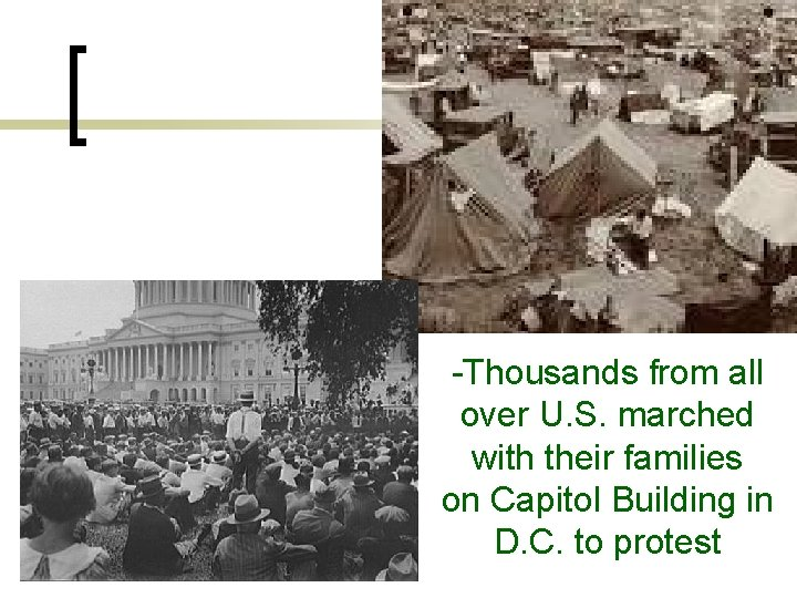 -Thousands from all over U. S. marched with their families on Capitol Building in