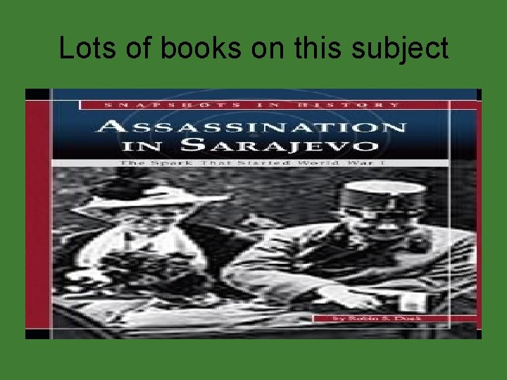 Lots of books on this subject