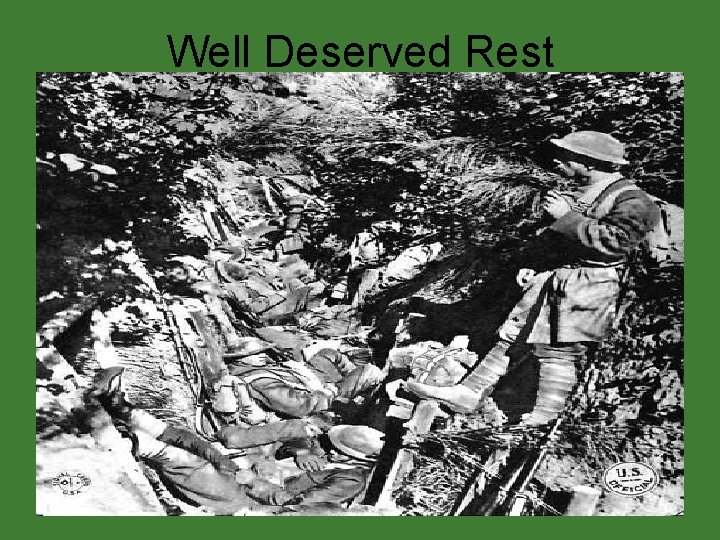 Well Deserved Rest