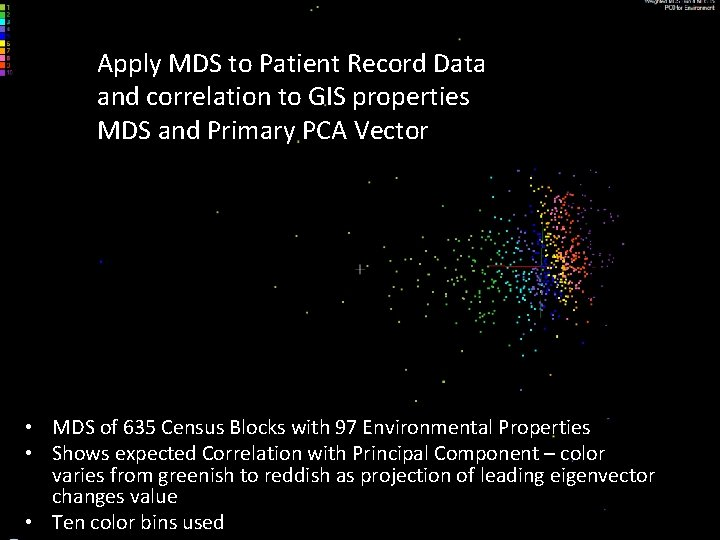 Apply MDS to Patient Record Data and correlation to GIS properties MDS and Primary