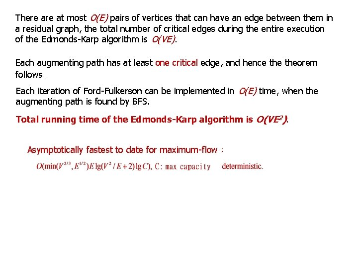 There at most O(E) pairs of vertices that can have an edge between them