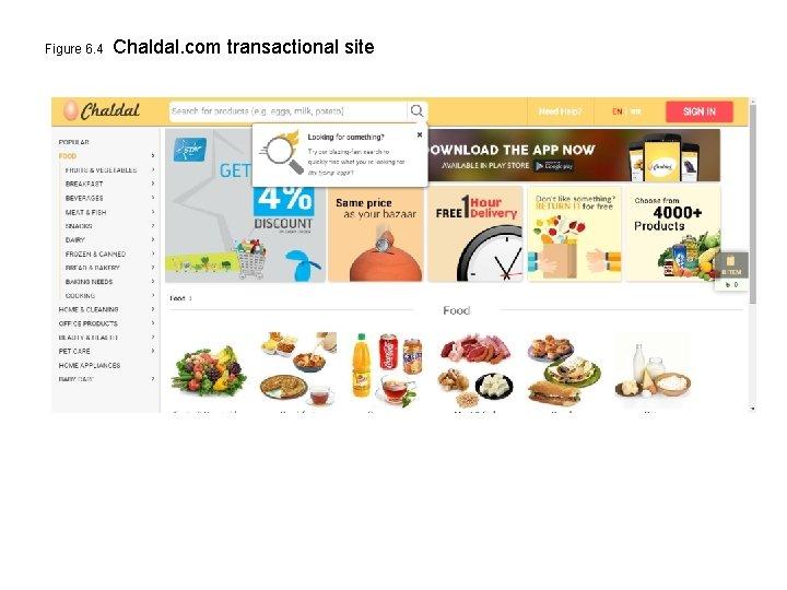 Figure 6. 4 Chaldal. com transactional site