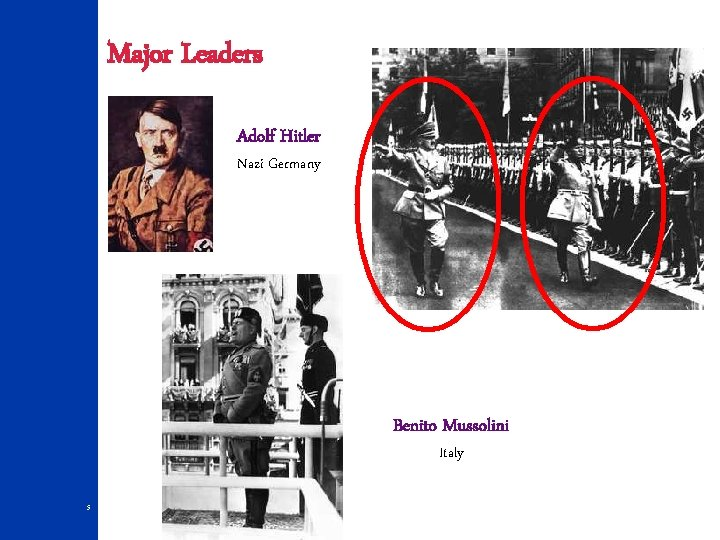 Major Leaders Adolf Hitler Nazi Germany Benito Mussolini Italy 5