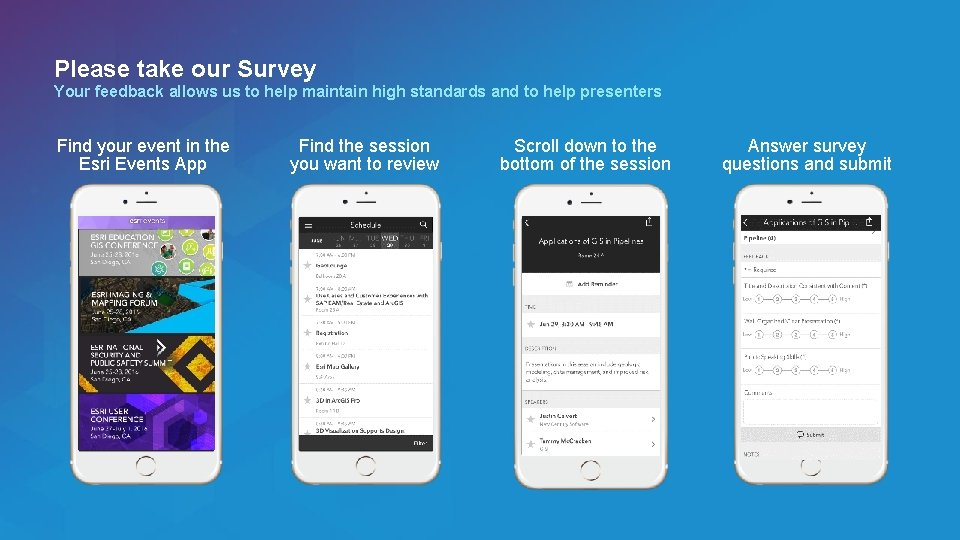 Please take our Survey Your feedback allows us to help maintain high standards and