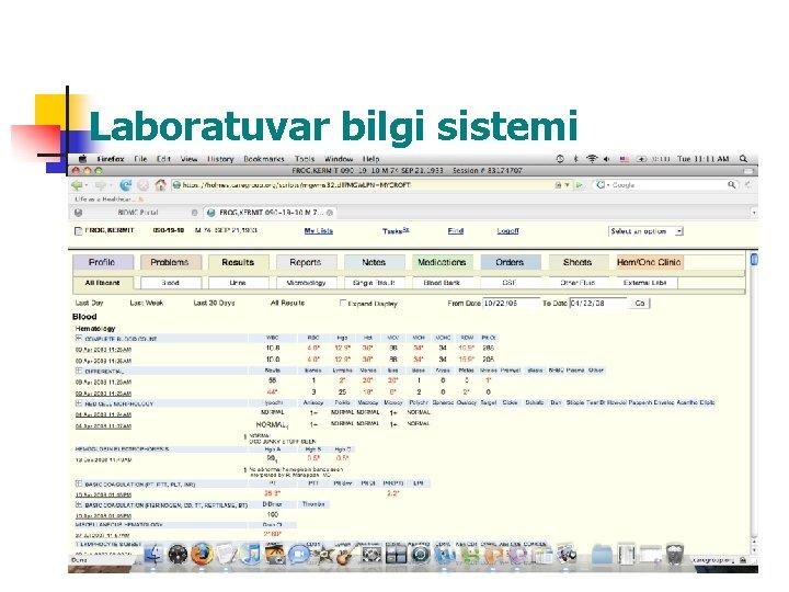 Laboratuvar bilgi sistemi