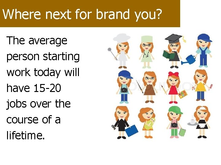 Where next for brand you? The average person starting work today will have 15