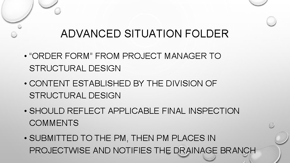 """ADVANCED SITUATION FOLDER • """"ORDER FORM"""" FROM PROJECT MANAGER TO STRUCTURAL DESIGN • CONTENT"""