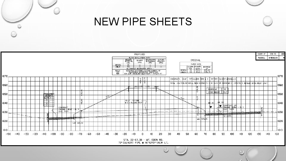 NEW PIPE SHEETS
