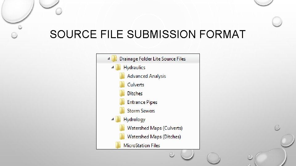SOURCE FILE SUBMISSION FORMAT
