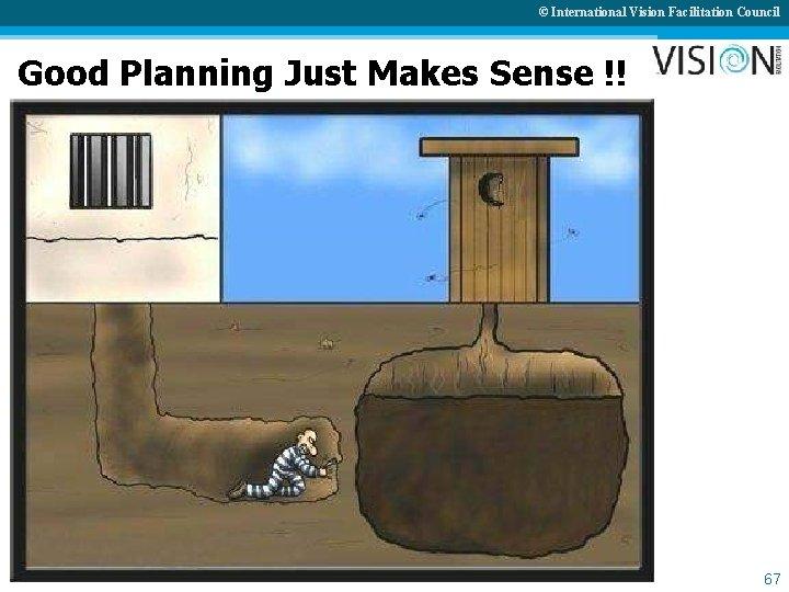 © International Vision Facilitation Council Good Planning Just Makes Sense !! 67