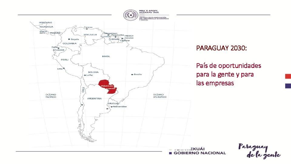 PARAGUAY 2030: País de oportunidades para la gente y para las empresas