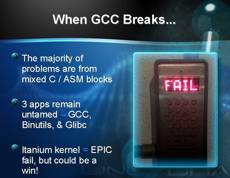 When GCC Breaks. . . The majority of problems are from mixed C /