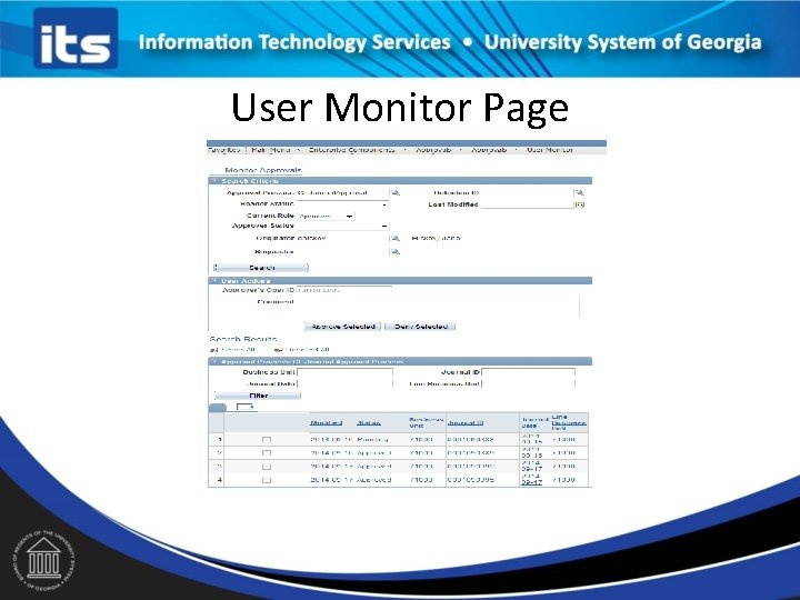 User Monitor Page