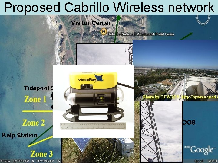 Proposed Cabrillo Wireless network Visitor Center HPWREN to Hillcrest Hospital Tidepool Station 1 USCG