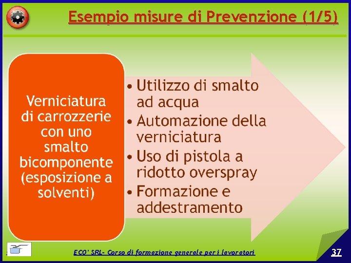 Esempio misure di Prevenzione (1/5) © EPC srl ECO' SRL- Corso di formazione generale