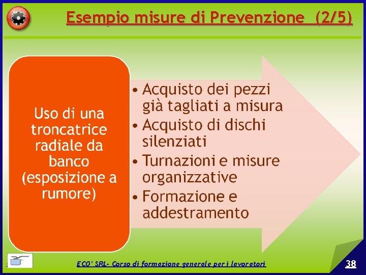 Esempio misure di Prevenzione (2/5) © EPC srl ECO' SRL- Corso di formazione generale