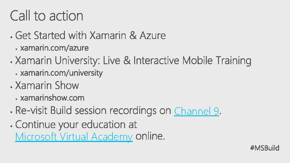 Channel 9 Microsoft Virtual Academy