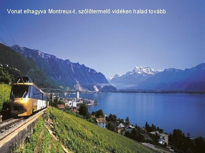 Vonat elhagyva Montreux-t, szőlőtermelő vidéken halad tovább