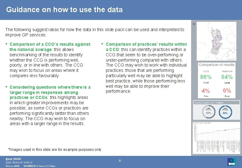 Guidance on how to use the data The following suggest ideas for how the