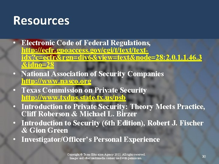 Resources • Electronic Code of Federal Regulations, http: //ecfr. gpoaccess. gov/cgi/t/textidx? c=ecfr&rgn=div 6&view=text&node=28: 2.
