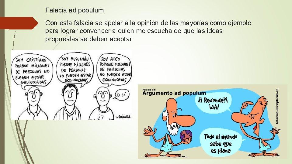 Populum argumentum ejemplo ad 10: Argumentum