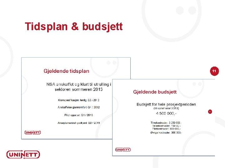 Tidsplan & budsjett 11