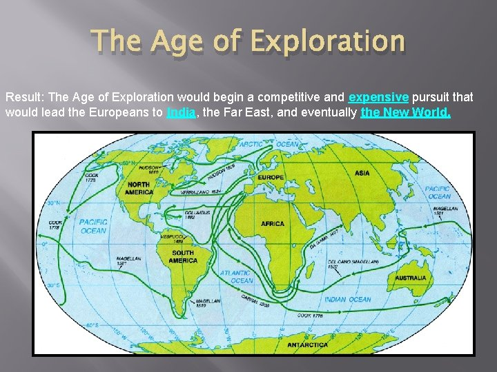 The Age of Exploration Result: The Age of Exploration would begin a competitive and