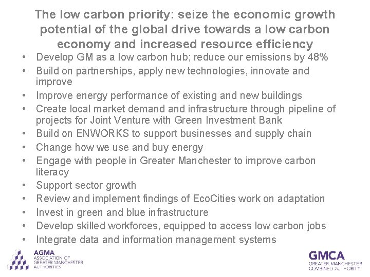 The low carbon priority: seize the economic growth potential of the global drive towards