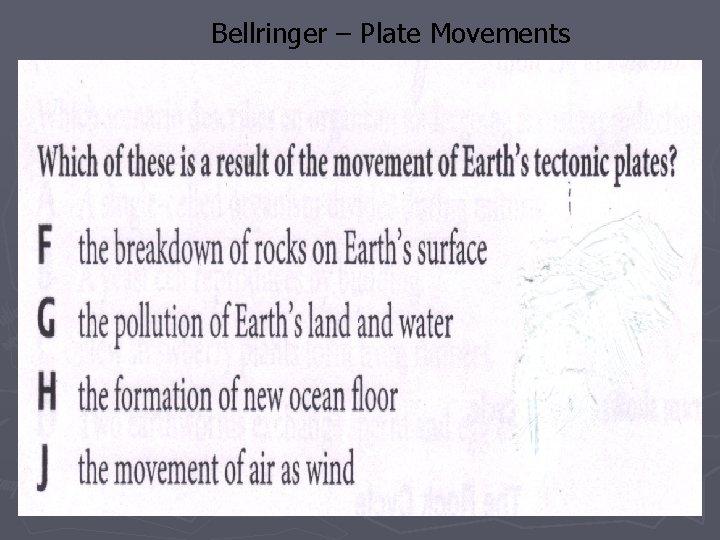 Bellringer – Plate Movements