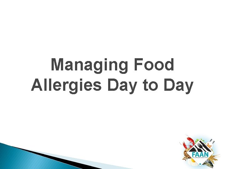 Managing Food Allergies Day to Day