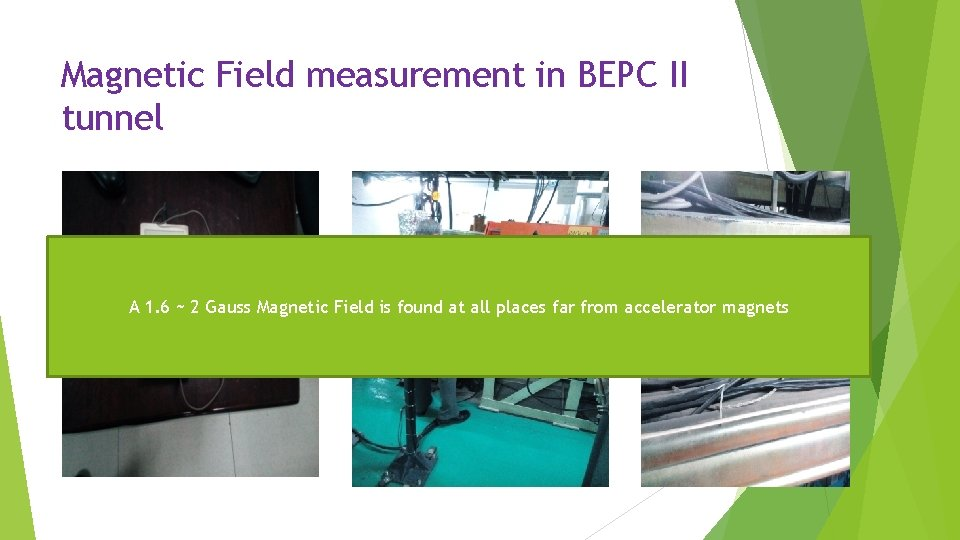 Magnetic Field measurement in BEPC II tunnel A 1. 6 ~ 2 Gauss Magnetic