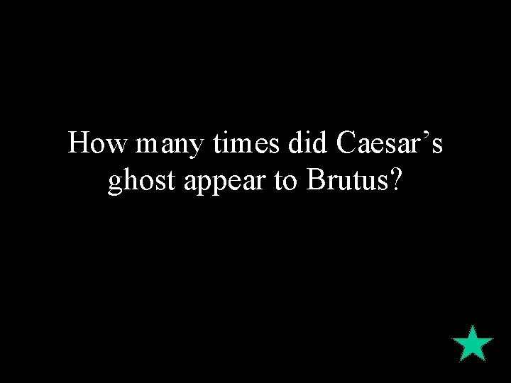 How many times did Caesar's ghost appear to Brutus?