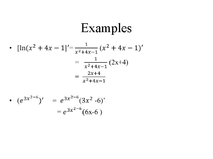 Examples •