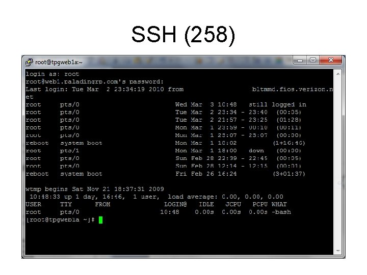 SSH (258)