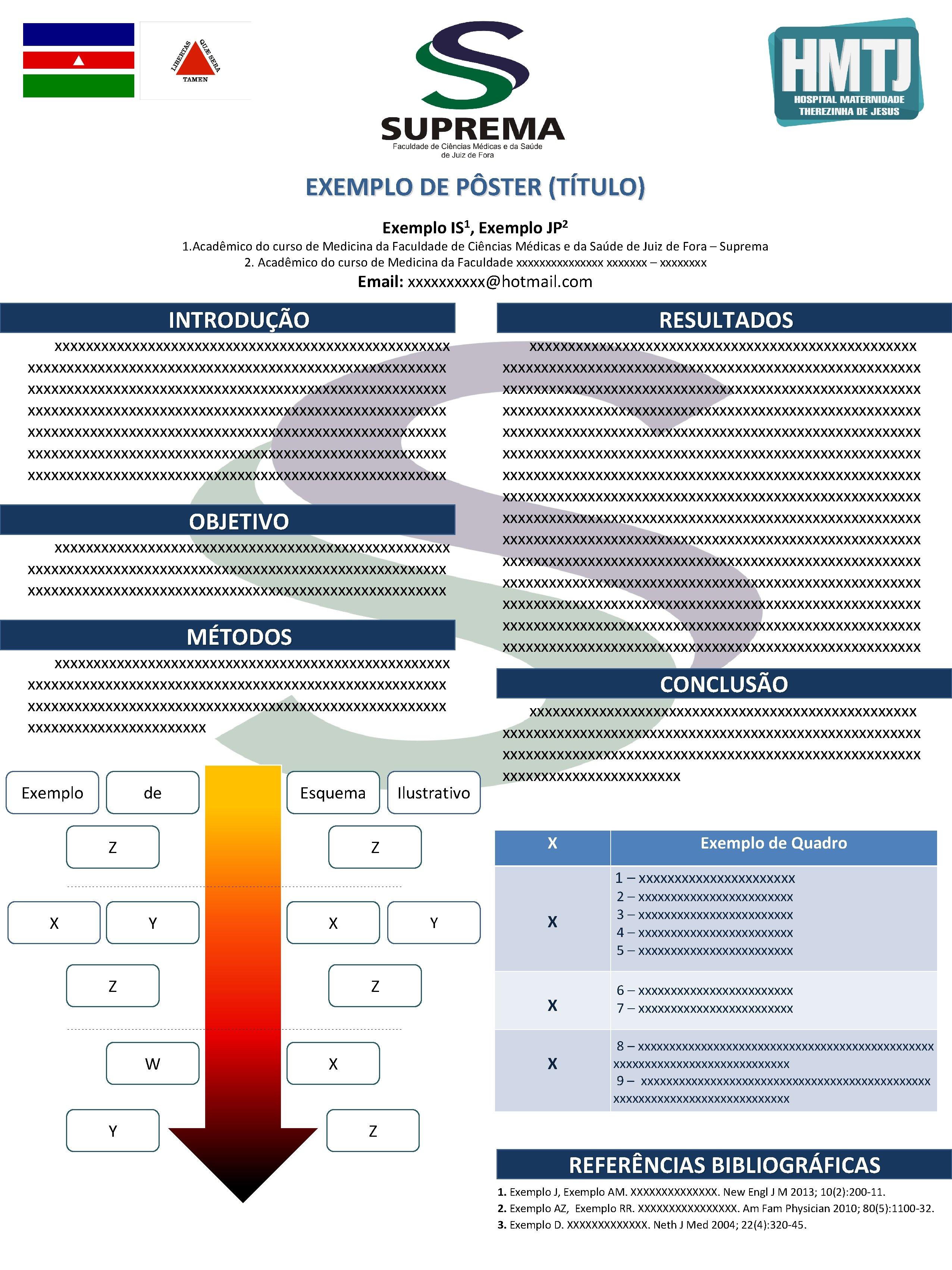 EXEMPLO DE PÔSTER (TÍTULO) Exemplo 1 IS , Exemplo 2 JP 1. Acadêmico do