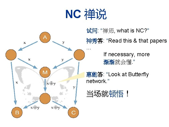 """NC 禅说 试问: """"禅师, what is NC? """" 神秀答: """"Read this & that papers"""