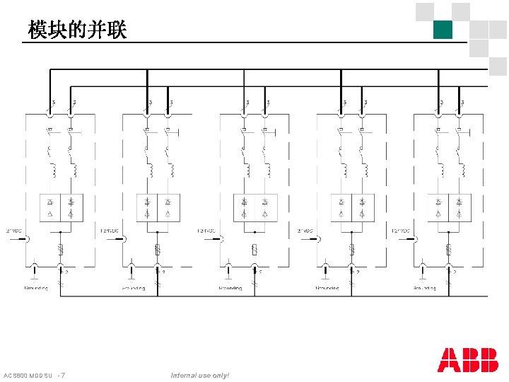 模块的并联 ACS 800 MDDSU - 7 Internal use only!