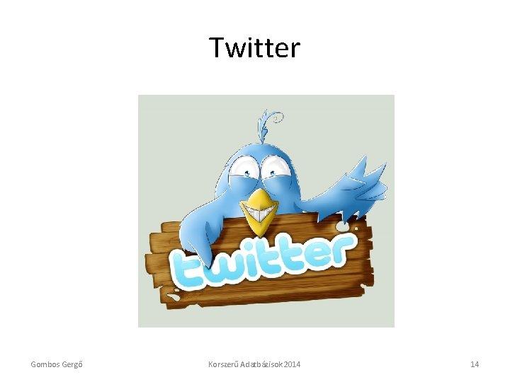 Twitter Gombos Gergő Korszerű Adatbázisok 2014 14