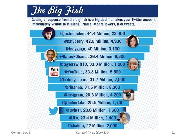 Twitter adatok Gombos Gergő Korszerű Adatbázisok 2014 21
