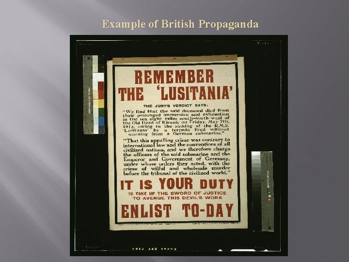 Example of British Propaganda