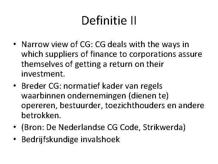 Definitie II • Narrow view of CG: CG deals with the ways in which