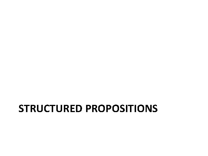 STRUCTURED PROPOSITIONS