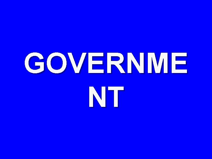 GOVERNME NT