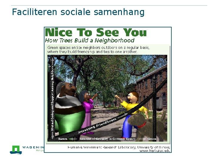 Faciliteren sociale samenhang