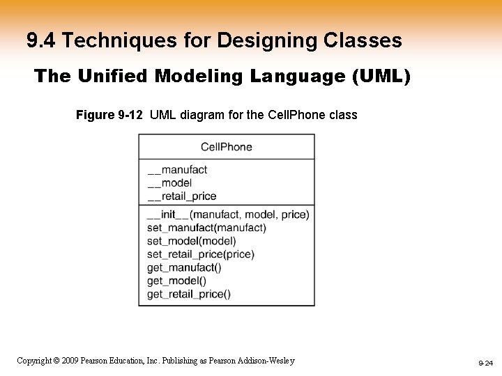 9. 4 Techniques for Designing Classes The Unified Modeling Language (UML) Figure 9 -12