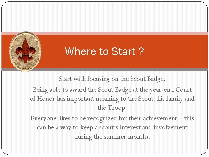 Scout badge meaning of the Boy Scout