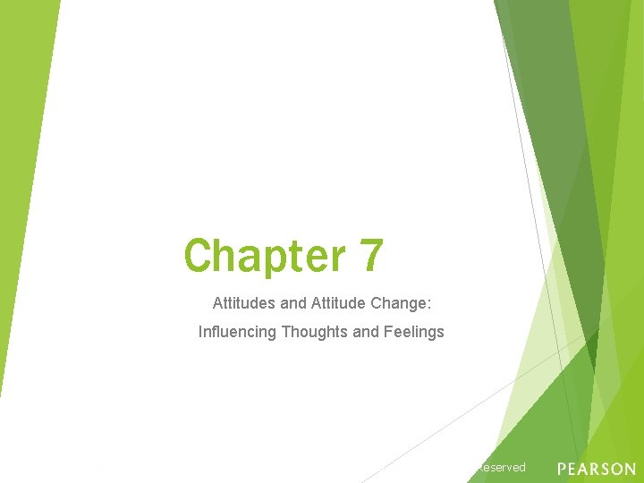 Chapter 7 Attitudes and Attitude Change: Influencing Thoughts and Feelings Copyright © 2016, 2013,